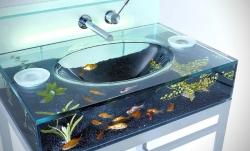 Akvárium s rybičkami můžete mít prakticky kdekoliv, i na neobvyklých místech